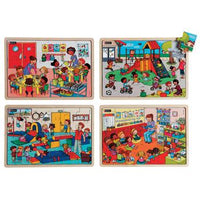 Together At School Puzzles, Age 4+, Set of 4