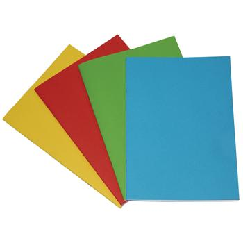 Project Books, 90gsm Cartridge Paper, A4 (297 x 210mm), 40 Pages, Card Cover, Plain, Pack of 50