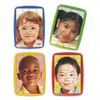 Children of The World Puzzles, Plastic, Set of 4