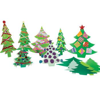 Jumbo Christmas Trees, Pack of 40