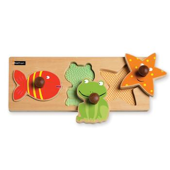 Tactile Puzzles, Water Animals, Age 18Mths+, Each
