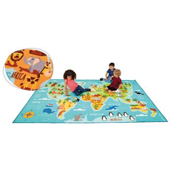 Kit For Kids, Carpet, Animals & Places of the World, 3000 x 2000mm, Each
