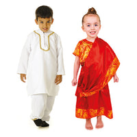 Multicultural Costumes, Indian Boy and Girl, Set