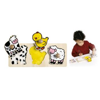 Tactile Puzzles, Farm Animals, Age 18Mths+, Each