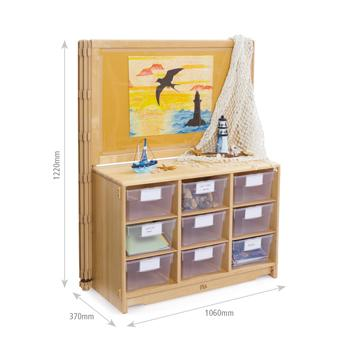 Children's Furniture, Display Units, 940mm Display Unit With Totes Or Baskets (F875)