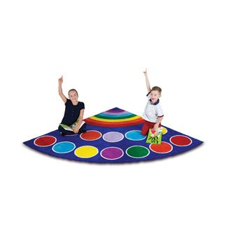 Kit For Kids, Rainbow(TM) Placement Carpets, Corner, 2000 x 2000mm, Each