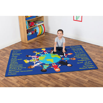 Kit For Kids, Multi-Cultural Carpet, Children of The World(TM) Welcome Carpet, 2000 x 1300mm, Each