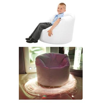Sensory Room White Uv Bean Bag, Each