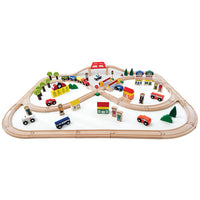 Wooden Train Sets, 103 Piece, Set