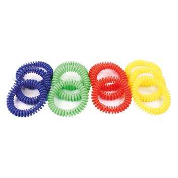 Rubber Quoits Telephone Wire Throwing Rings, Pack of 12