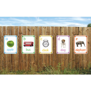 Outdoor Learning Boards, Photo Sets, Picture Alphabet, Set of 26