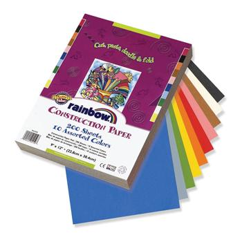Construction Paper, Assorted Vivid Colours, A4, 75gsm, Pack of 200 Sheets