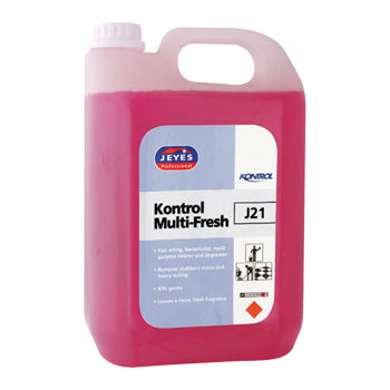 General Cleaners, J21 Kontrol Multi-Fresh, Jeyes Professional, Case of 2 x 5 Litres
