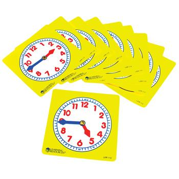 Teaching Clocks, Clock Faces, Pack of 10