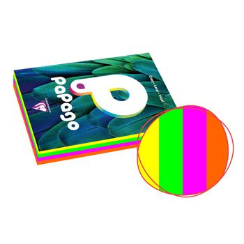 Papago Copier Range, Fluorescent Colours, A4  80gsm, Assorted, Ream of 4 x 125 Sheets