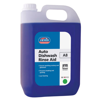 Auto Dishwashing, A8 Auto Rinse Aid, Jeyes Professional, Case of 2 x 5 litres