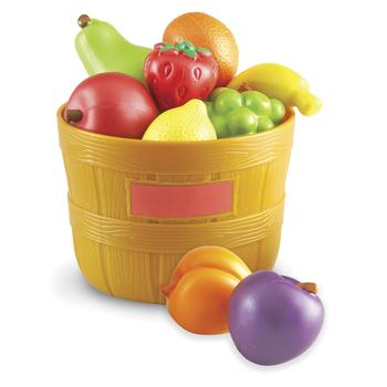 Plastic Tub of Fruit, Age 18 Mths+, Set of 9