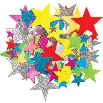 Pearl & Glitter Stars, Pack of 210
