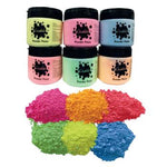 Paint, Powder Colour, Fluorescent Pack, Pack of 6 x 500G