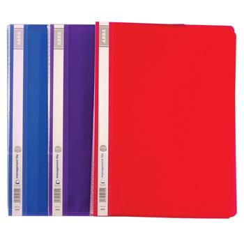 A4 Display Books, Flexible Polypropylene Cover, 24 Pockets Portrait, Assorted Colours, Pack of 10