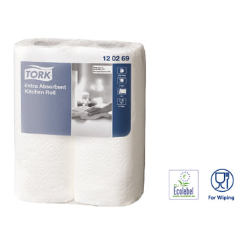 Tork Extra Absorbent Kitchen Roll, Kitchen Roll, Case of 24 Rolls