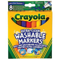 Pens, Washable Fibre Tip, Broad, Crayola(R) Ultra Clean, Assorted