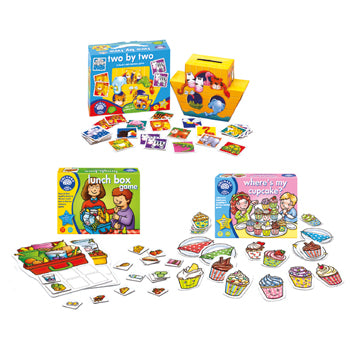 Early Memory Games Set, Age 3+, Set of 3