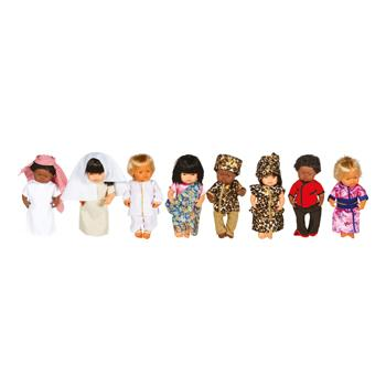 Role Play, Dolls' Clothes, Multicultural, Set of 8