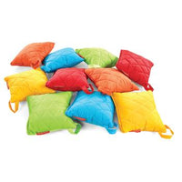 Quilted Outdoor Furniture, Square Cushions, Set of 10