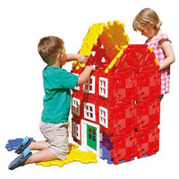 Giant Polydron, House Builder Set, Age 2+, Set of 72 Pieces