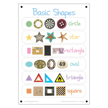 Outdoor Learning, Photo Sets, Basic Shapes, 420 x 594Mm (A2), Each