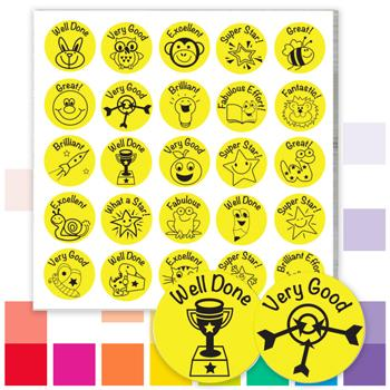 Economy Stickers, Yellow, Pack of 475 Stickers
