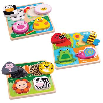 Touch & Feel Puzzle Set, Age 18mths+, Set of 3