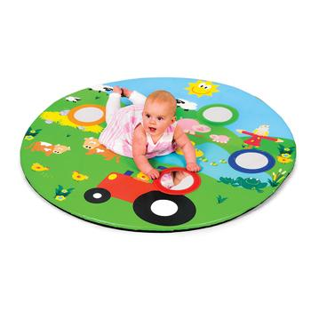Farm Friends Baby Mirror Mat, Age 3 Mths+, Each