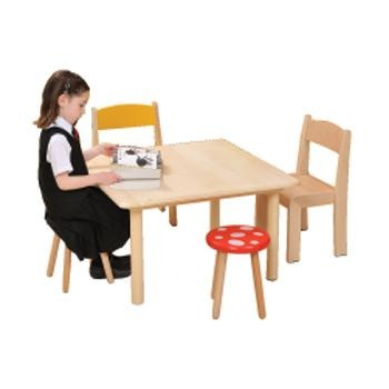 Natural Beechwood Tables, Square