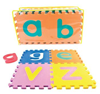 Neoplay, Alphabet Mats, Lower Case, Set of 26