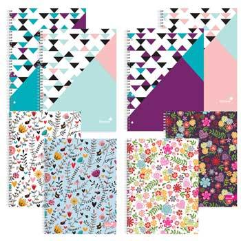 Wirebound Notebooks, Fashion Notebooks, Pack of 4