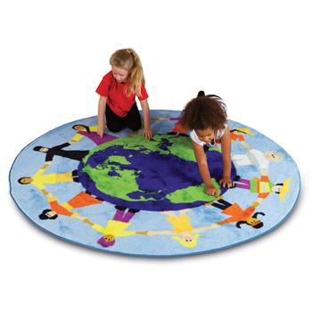 Kit For Kids, Multi-Cultural Carpet, Children of The World(TM), 2000mm Diameter, Each