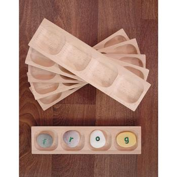 Word-Building Trays, 4 Pebble, Age 18 months +, Set of 6