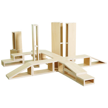 City Blocks, Basic Set, Age 3+, Set of 18 Pieces