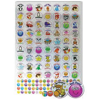 Sparkly Stickers, A4 Compilation Characters & Smiley Faces, Pack of 1310