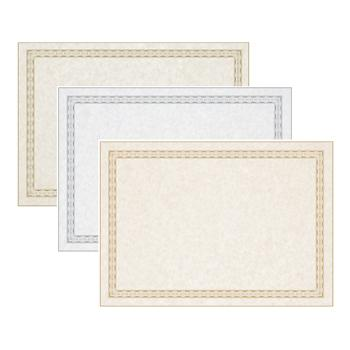 Card, Marble Effect With Metallic Frame, 200 Micron, A4, Pack of 100