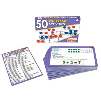 50 Ten Frame Activities Cards, Set of 50
