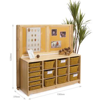 Children's Furniture, Display Units, 1240mm Display Unit With Totes Or Baskets (F876)