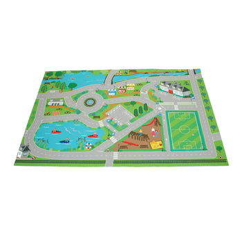 Toy Vehicles and Accessories, Playmat - Road/Town Scene, Age 3+, Set