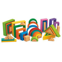Rainbow Design Blocks, Set of 38