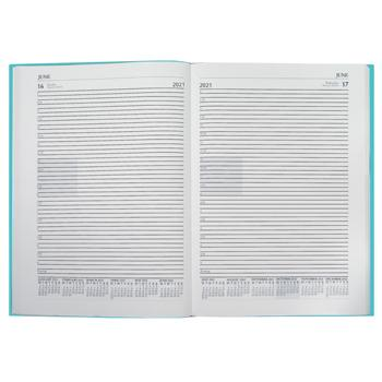 A4 Desk Diaries 2021, One Day to a Page, Turquoise, Each