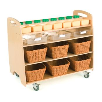 Children's Furniture, Help Yourself Trolley With Baskets (H572)