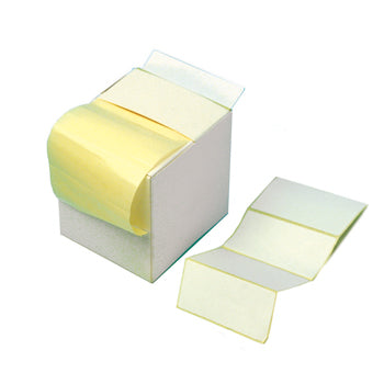 White Self-Adhesive Labels, Non Printer, Reels, Perforated, 86 x 36Mm, 86 x 36Mm, Reel of 625