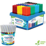 Broad Fibre Tipped Pen, Giotto Turbo Maxi, Assorted, Box of 12